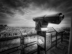 Talking Telescope (The Unexplored) Tags: edinburgh castle talking telescope nikon sigma 816mm lightroom photomatix photoshop bw hdr thegrimgit grimgit unexplored theunexplored