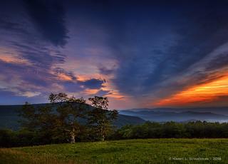 Sunset Spitler Knoll , Shenandoah