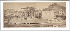 Κατασκευή Ακαδημίας Αθηνών, μεταξύ 1859 και 1887. (Giannis Giannakitsas) Tags: 19th century athens athen athenes greece grece griechenland ακαδημια αθηνων
