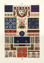Greek pattern from L'ornement Polychrome (1888) by Albert Racinet (1825–1893). Digitally enhanced from our own original 1888 edition.
