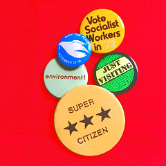 Buttons (byzantiumbooks) Tags: buttons pins werehere hereios socialistworkers justvisiting