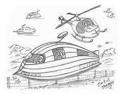 Jimbo's Jammies (rod1691) Tags: myart art sketchbook bw scfi grey concept custom car retro space hotrod drawing pencil h2 hb original story fantasy funny tale automotive illustration greyscale moonpies sketch sexy