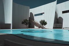 Whirlpool (davismitchell1) Tags: architecture blue circles curves green mood stairs walls water white