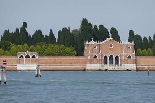 Cimetière de San Michele, lagune de Venise, Vénétie, Italie.