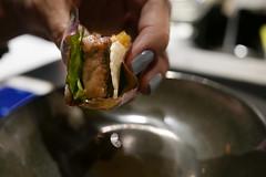 Carne Asada - A5 wagyu, red leaf lettuce, fermented green tomato jus (loustejskal) Tags: sanfrancisco california unitedstates sanfranciscofood sanfranciscorestaurant mexicanfood tastingmenu valcantu