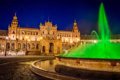 La Place d'Espagne à Séville (tof-lo62) Tags: sevilla seville andalousie andaloucia cityscape city place despagne plaza de espana heure bleue blue hour pose longue long exposure sunset sunrise night nuit