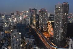 tokyo7228 (tanayan) Tags: urban town cityscape tokyo japan night view nikon v3 東京 日本 observation world trade center