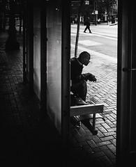 untitled--182 (Stevenchen912) Tags: streetphoto streetcandid streetportrait streetscene urbanlife urbanstreet portrait dark contrast composition geometry bw blackwhite alone bus shadow