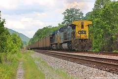 CSX Pushers (Railroad Gal) Tags: railroad railfan railfanning csx clinchfieldrailroad crr fallen flag long hood ac44cw train coaltrain appalachianmountains appalachian virginia trees sunshine clouds explore
