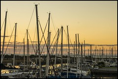 Sunset  Cloud behind the Masts-1=