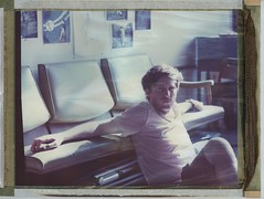 Kevin in the studio (Dear Deer Fine Art) Tags: film analog expired largeformat instant polaroid fuji