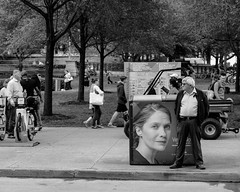 Wasted Ad Spending.jpg (Milosh Kosanovich) Tags: fujifilmxf1855 precisiondigitalphotography chicago streetphotography mickchgo printersrow drinkclick chicagophotographicart garbagecans fujifilmxe2 advertisement advertising chicagophotographicartscom chicagophotoart litfest michiganavenue miloshkosanovich blusfest