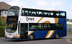 Tyrers Coaches, Adlington MX07BUW on Bolton area schools duties. (Gobbiner) Tags: stagecoachfife 16950 eclipsegemini b9tl tyrerscoaches mx07buw wrightbus 37305 firstgroup volvo stagecoachmanchester eastkent adlington