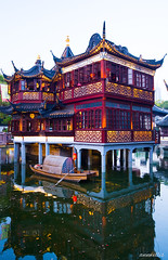 Tea house (annvvillis) Tags: tea house lake boat shanghai chinese culture
