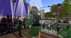 Our school choir at Dreamville (cadeSL) Tags: sl school choir secondlife second life virtual avatar world singing dancing tartan music performance children pupils girls boys perform st columba catholic ohares gap ireland irish stage lights people audience dreamville city beach sports police fire hospital church sport cheer sea sand family homes community green