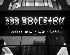 399 Boylston B&W (iMatthew) Tags: 399boylston boston backbay boylstonstreet sign illuminated reflection penf olympuspenf olympuspen bw blackandwhite twili
