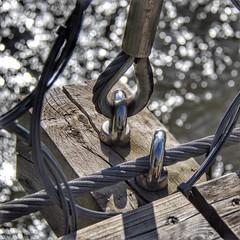 Ancorat ... !!   -  Anchored ... !! (Miquel Lleixà Mora [NotPRO]) Tags: ambient igerscatalunya igersmataro igersmaresme life vida desti llum superació riu river ferro iron wood fusta