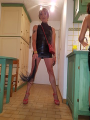 20170809_221637 (magda-liebe) Tags: anklet tatoo crossdresser clubbing chainedecheville french fouet tgirl highheels outgoing flogger shoes whip minidress stockings wetlook travesti