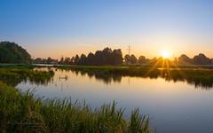 Good morning sunshine! (Karsten Gieselmann) Tags: 1240mmf28 apertureblending bavaria blau burglengenfeld dunst em5markii farbe flusskanalbach germany grün hdr mzuiko microfourthirds naab olympus orange sonnenaufgang wetter blue color creek green haze kgiesel m43 mft river sunrise weather teublitz bayern deutschland