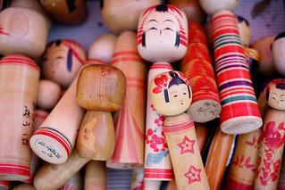 Vintage kokeshi dolls for sale