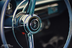 Steer That Impala (Hi-Fi Fotos) Tags: chevy chevrolet impala vintage steeringwheel horn logo chrome design style detail american classiccar nikkor 50mm 14 nikon d7200 dx hififotos hallewell