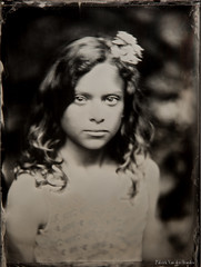 Portrait of Ilona (patrickvandenbranden) Tags: 45x6 lereboursetsecretan alternativeprocess ambrotype bw blackandwhite childhood collodion collodionhumide fineart largeformat monochrome naturallight noiretblanc outdoor pictorialist portrait procédéalternatif wetplate