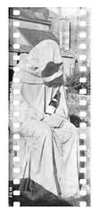 the monk • gevrey chambertin, burgundy • 2015 (lem's) Tags: monk moine statue gevrey chambertin bourgogne burgundy hp5 35mm rolleiflex
