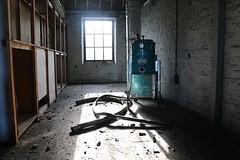 bad robot (ah-me) Tags: urbanexploration urbanphotography gonebutnotforgotten mills emptybuildings derelictplaces abandonedbuildings derelictspaces