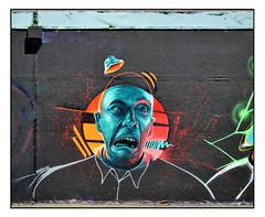 STREET ART by WOSKERSKI (StockCarPete) Tags: woskerski streetart londonstreetart urbanart graffiti stockwellhalloffame london uk character hat wallart spraycanart aerosolart male man