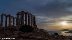 Temple of Poseidon sunset-1