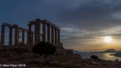 Temple of Poseidon sunset-1 (PapaPiper (Travelling with my camera)) Tags: poseidon sounion greece attica sunset temple aegean historic seascape architecture vividstriking greatphotographers greaterphotographers greatestphotographers ultimatephotographers