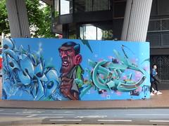 Gent graffiti street art on Hurst Street (ell brown) Tags: birmingham westmidlands england unitedkingdom greatbritain southside smallbrookqueensway hurstst chinesequarter ringwaycentre graffiti streetart concrete birminghamchinatown gent snobs bankholidaymonday springbankholidaymonday