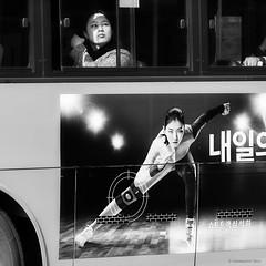 Seoul (ale neri) Tags: street bw aleneri bus windowseat people korean seoul korea streetphotography blackandwhite alessandroneri