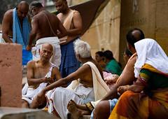 "Varanasi Action On The Ghats (El-Branden Brazil) Tags: varanasi india indian ganges ganga ceremony hindu hinduism asian asia sacred holy mystical ""south asia"" sadhu"
