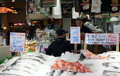 Pike Place Market (videoqueen) Tags: pikeplacemarket seattle washington fishmarket starbucks originalstarbucks fish flowers market downtown wharf