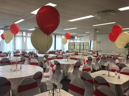Tafeldecoratie 2ballonnen Stormpolder Krimpen aan den IJssel
