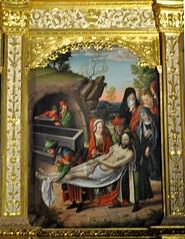 Astorga (León-España). Catedral. Retablo Hispanoflamenco, 1530. Maestro de Astorga. Predela, Entierro de Jesús (santi abella) Tags: astorga león castillayleón españa catedraldeastorga retablos