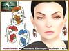 Bliensen - Moonflower - Art Nouveau Earrings (Plurabelle Laszlo of Bliensen + MaiTai) Tags: vintage retro jewelry necklace earrings artnouveau belleepoque 1910s 1920s antique floral bliensen secondlife sl