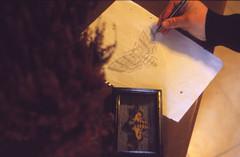 . (sullen_snowflakes) Tags: mano hand disegno paint falena moth acherontiaatropos analogico analog