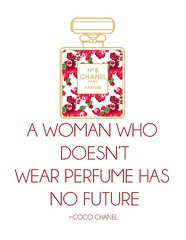 Quotes About Fashion : Meilleures Citations De Mode & Des Créateurs  : Chanel No 5 Perfume Quote (red)...