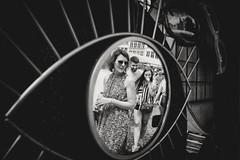 The eye(s) (ElBiSt (Bianca Stoicheci)) Tags: bw blackandwhite street streetphotographhy belgium people monochrome antwerp antwerpen reflection