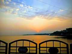 #Sunset #travel 🌅 #lake (gagan_bisen) Tags: sunset travel lake nature india world water human colour dusk