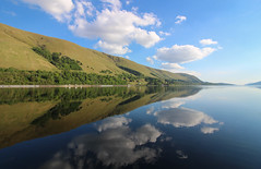 Loch Lochy Reflection (Andy.Gocher) Tags: andygocher canon100d uk scotland highlands loch lochy reflections sky water clouds landscape theladyofavenel the caledonia canal