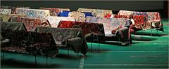 """""""Kanal - Centre Pompidou"""", ancien garage Citroën-Yser, quai des Péniches, Bruxelles, Belgium (claude lina) Tags: claudelina belgium belgique belgië bruxelles brussels kanal centrepompidou kanalcentrepompidou musée museum garagecitroënyser citroën exposition oeuvre art tapis sièges divans"""