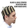 BLACK & GOLD STRIPED (TheKufi.com) Tags: kufi kufis kopyah kufiya peci muslim hats prayer caps