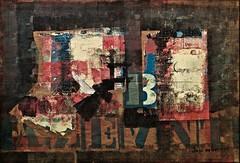 Inscriptions (1968) - José Guimarães (1939) (pedrosimoes7) Tags: joséguimarães caloustegulbenkianmuseum moderncollection lisbon portugal ciajg serapilheirapintada paintedsackcloth ✩ecoledesbeauxarts✩ artgalleryandmuseums