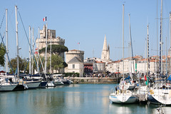 Beautiful La Rochelle (France) (Yuri Dedulin) Tags: architecture culture eu europe france history larochelle landscape oldcity travel yuridedulin 2018 coastalcity southwestern capital stunning historic harbor bay port water view saintnicolasdelarochelle tower towerdelachaîne towerdelalanterne medieval monument prison lighthouse bastion hulking fortress 14thcentury oldport