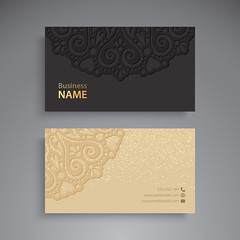 Business Card Business Card. Vintage decorative elements. Ornamental floral business cards or invitation with mandala (Best Designer BD) Tags: card business indian pattern mandala name turkish islam luxury black round template invitation vintage wedding abstraction arabic banner bohemian circle cover decoration element ethnic floral flower frame glitter henna identity