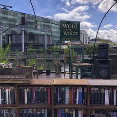Regent's Canal Walk (Tom Willett) Tags: canal walk regentscanal iphone square bookshop bookbarge barge longboat towpath
