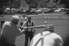Vintage Baseball, Cantigny Park. 36 (EOS) (Mega-Magpie) Tags: canon eos 60d outdoors vintage baseball 1858 rules cantigny park wheaton dupage il illinois usa america people person players guys men dude team sports fella bw black white mono monochrome